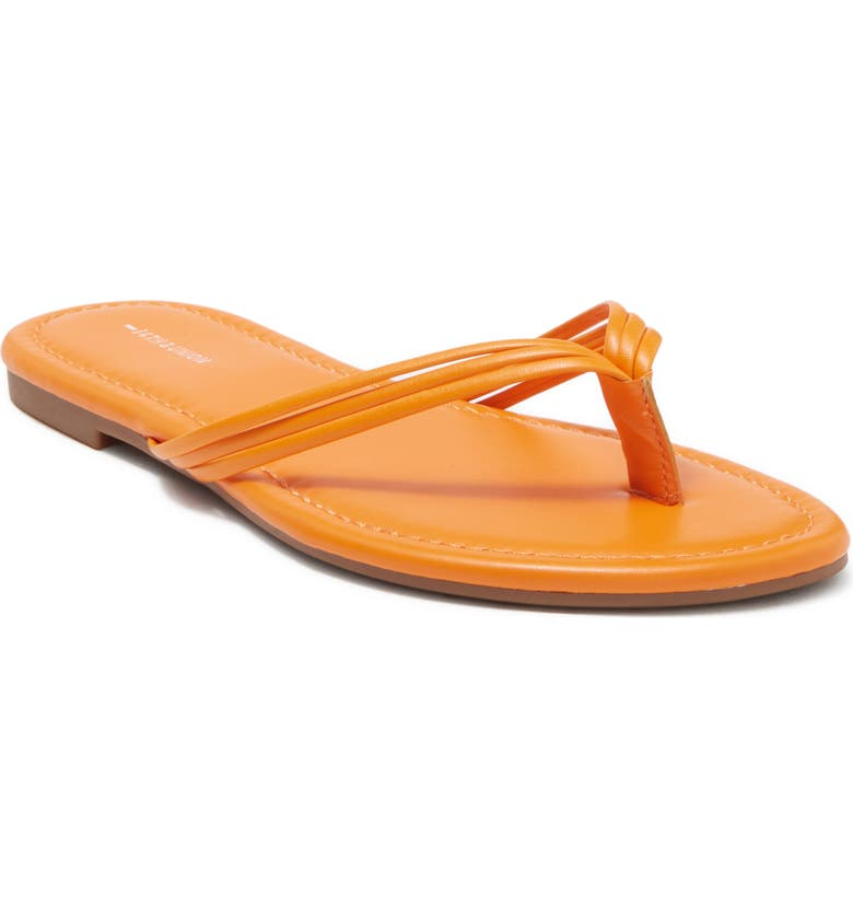 14TH AND UNION Dessie Strappy Thong Sandal, Main, color, ORANGE