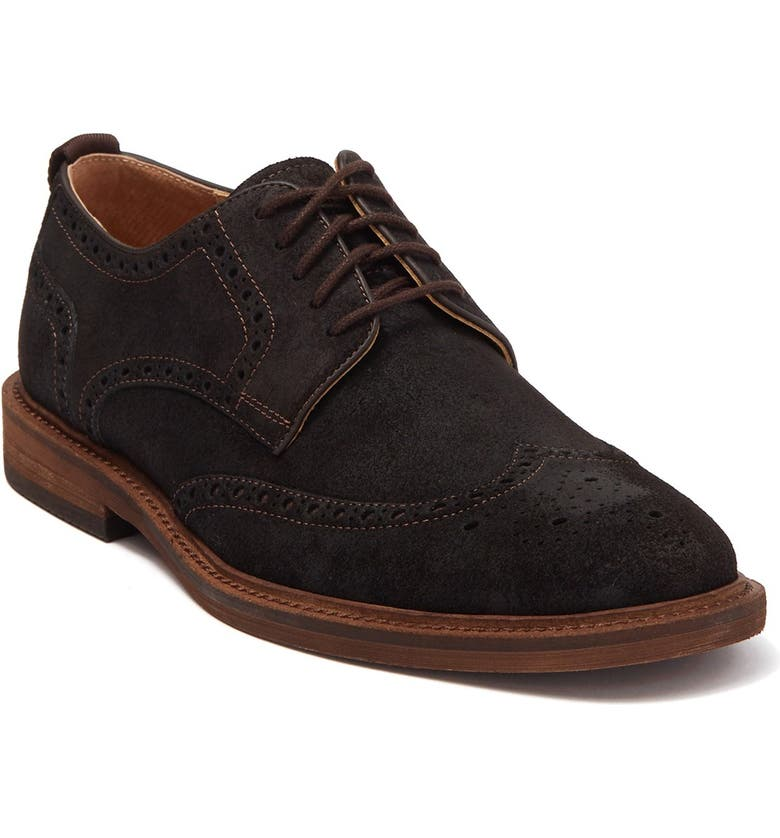 WARFIELD AND GRAND Davies Suede Wingtip Derby, Main, color, DK BROWN