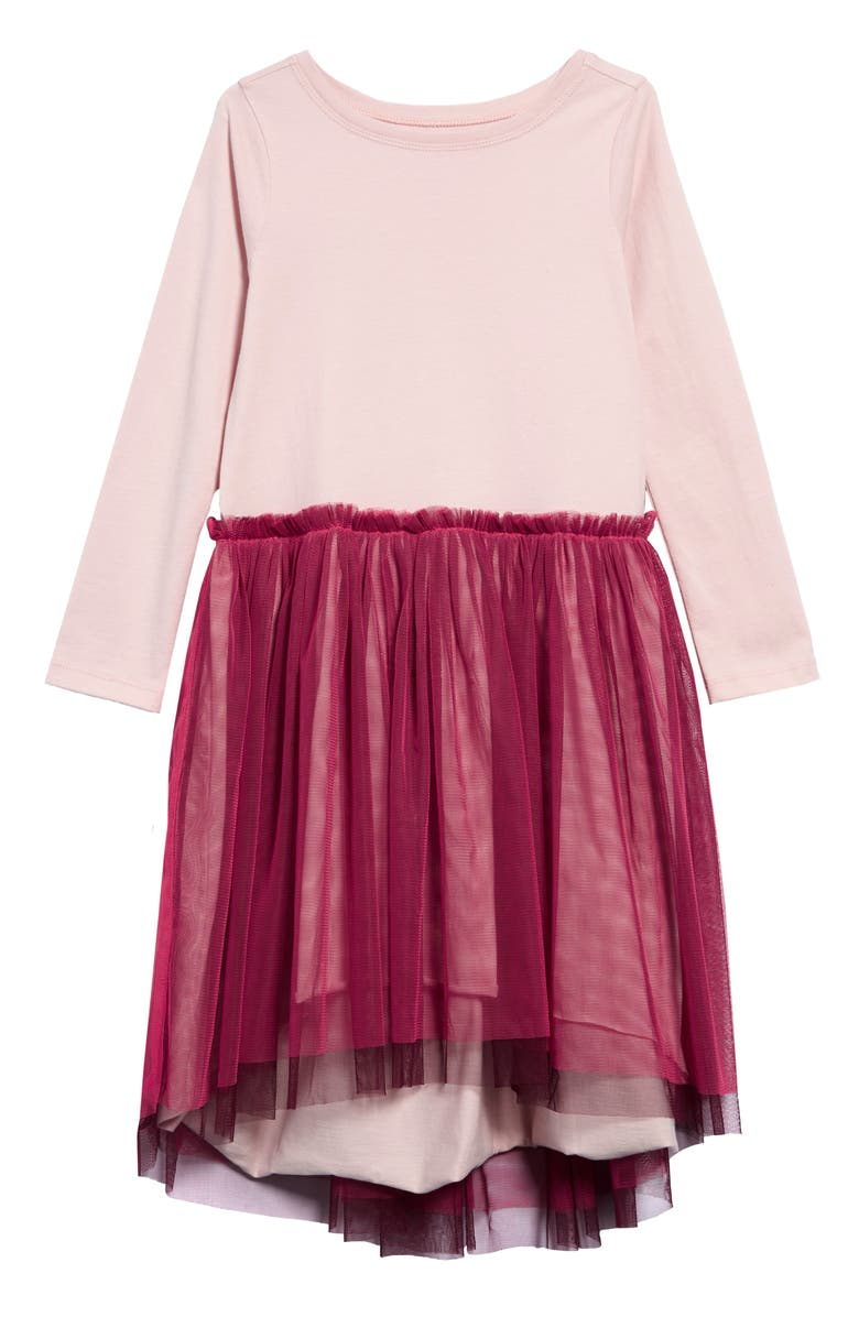 TEA COLLECTION Twirling Tulle Dress, Main, color, 600
