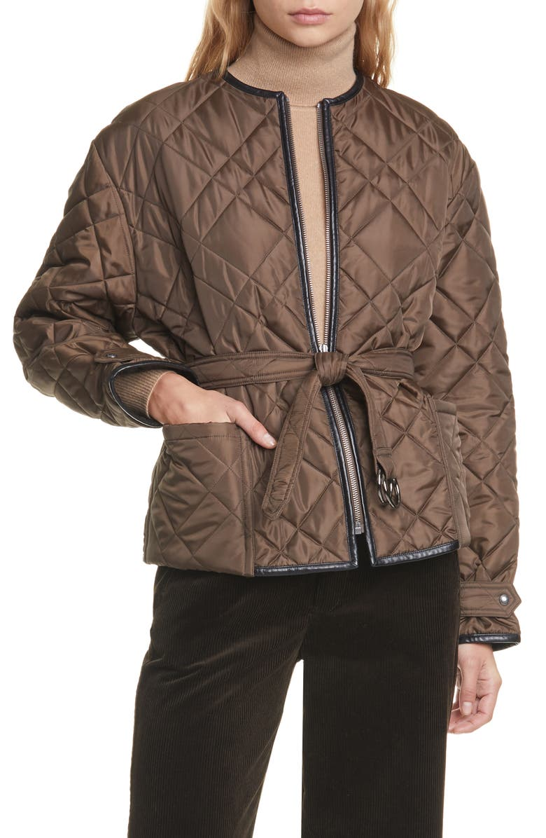 POLO RALPH LAUREN Belted Quilted Jacket, Main, color, 200