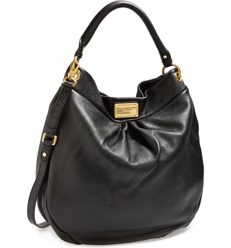 MARC JACOBS MARC BY MARC JACOBS 'Classic Q Hillier - Huge' Crossbody Hobo, Main, color, Black