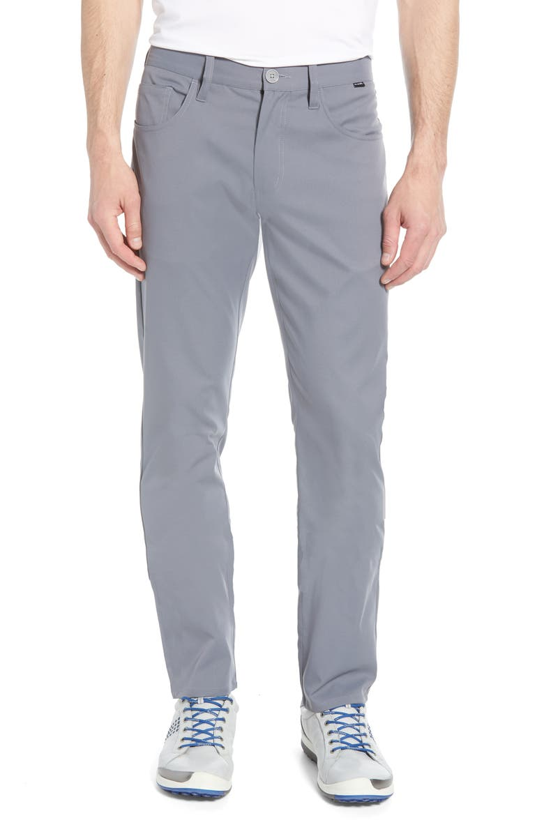 TRAVISMATHEW Level Up Slim Fit Pants, Main, color, GREY