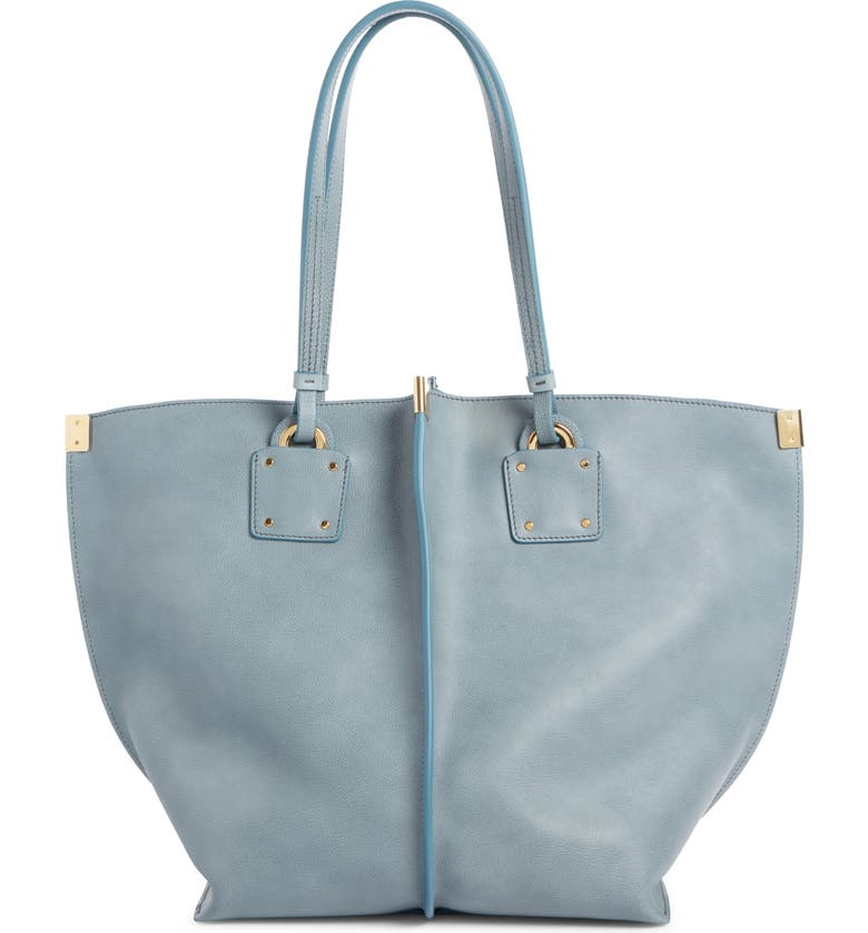CHLOÉ Vick Leather Tote, Main, color, 401