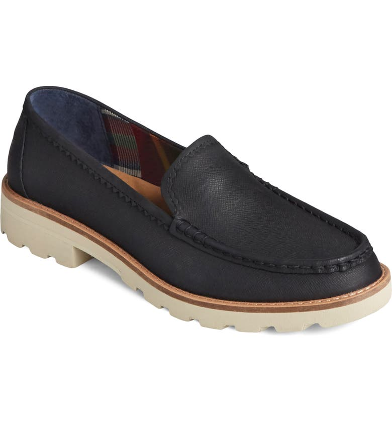 SPERRY Authentic Lug Sole Loafer, Main, color, BLACK GALWAY LEATHER
