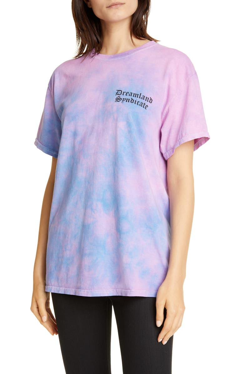 DREAMLAND SYNDICATE Lava Tie Dye Tee, Main, color, 500