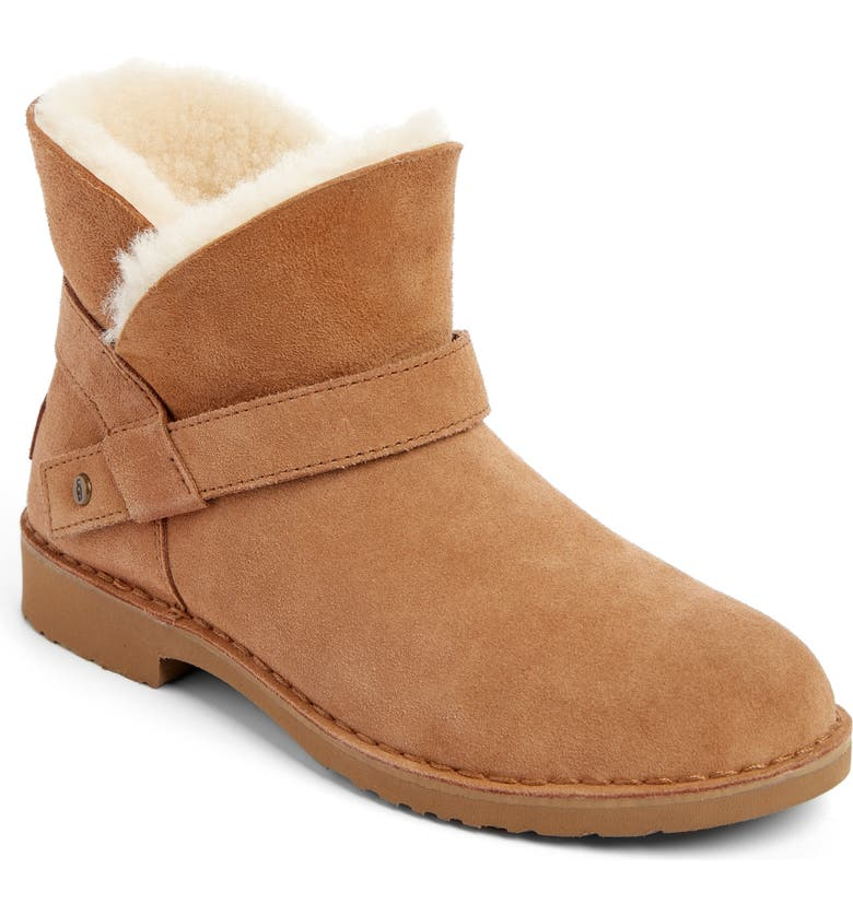 UGG<SUP>®</SUP> Zariyah Water Repellent Ankle Bootie, Main, color, CHESTNUT SUEDE