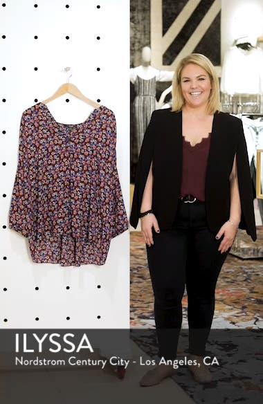 Pintuck Pleat Crepe Blouse, sales video thumbnail