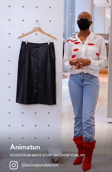 Vefy Perforated Faux Leather Skirt, sales video thumbnail