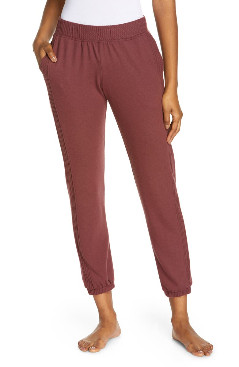 PROJECT SOCIAL T Side Stripe Joggers, Main, color, COFFEE BERRY