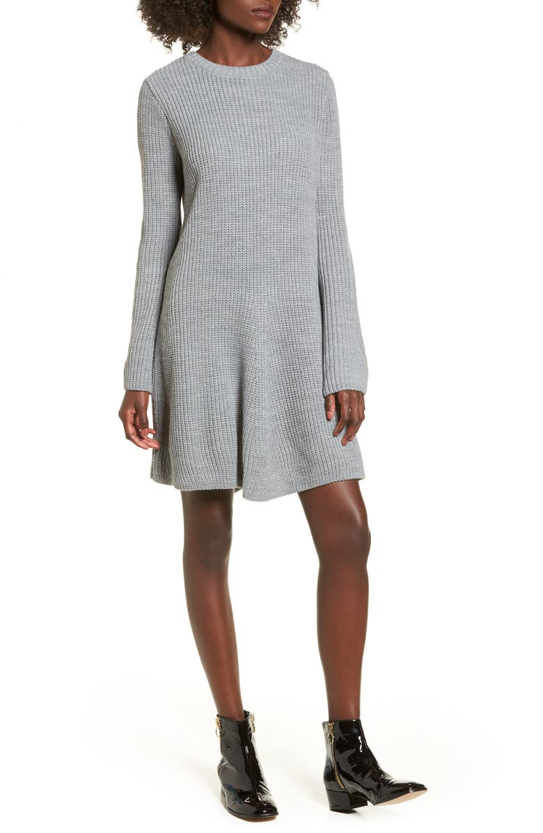 COTTON EMPORIUM Flared Sleeve Sweater Dress, Main, color, 020
