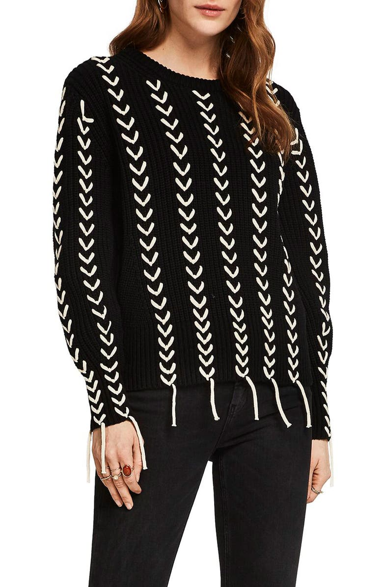 SCOTCH & SODA Chunky Patterned Sweater, Main, color, 001