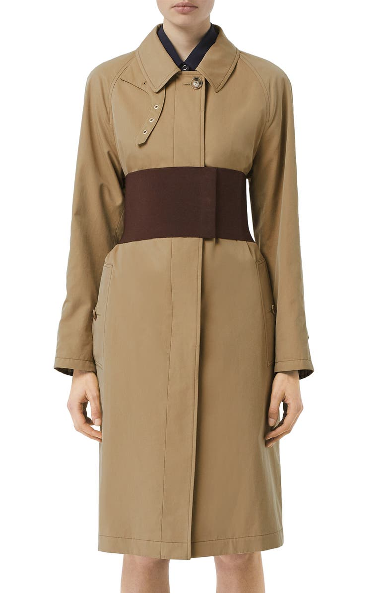 BURBERRY Belted Car Coat, Main, color, 273