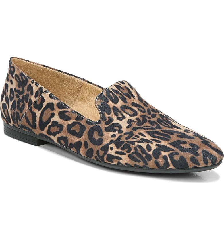NATURALIZER Lorna Collapsible Heel Loafer, Main, color, BROWN CHEETAH PRINT FABRIC