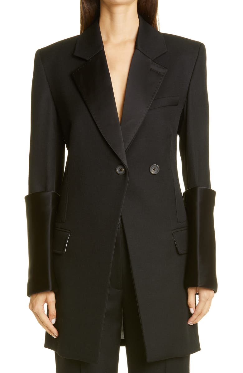 PETER DO Fitted Waist Blazer, Main, color, BLACK