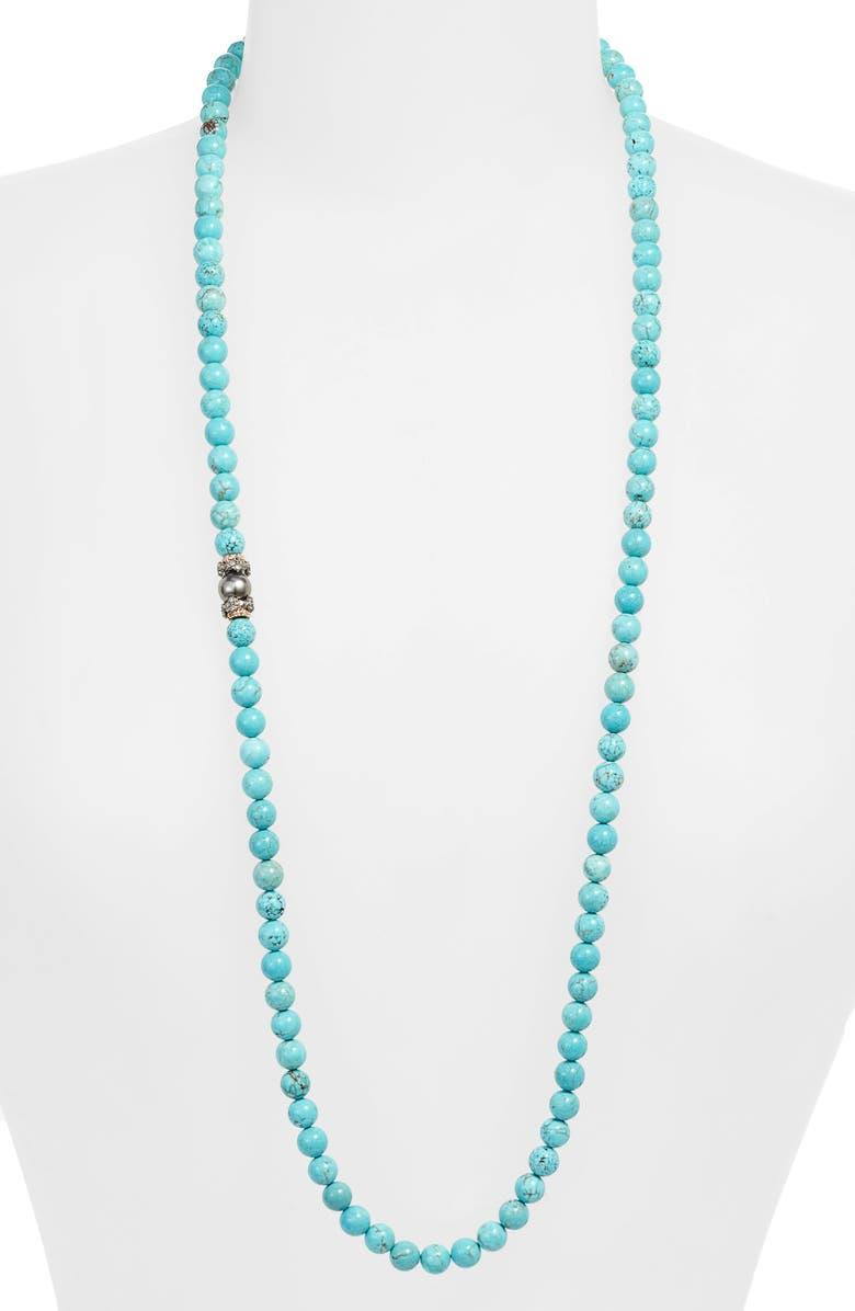 ARMENTA Armena New World Magnesite & Pearl Beaded Long Necklace, Main, color, 040