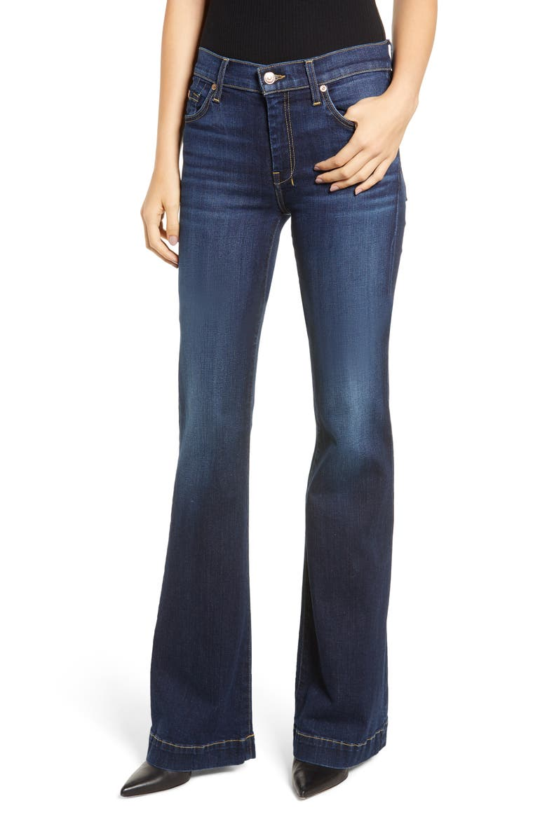 7 FOR ALL MANKIND<SUP>®</SUP> Dojo Wide Leg Jeans, Main, color, 400