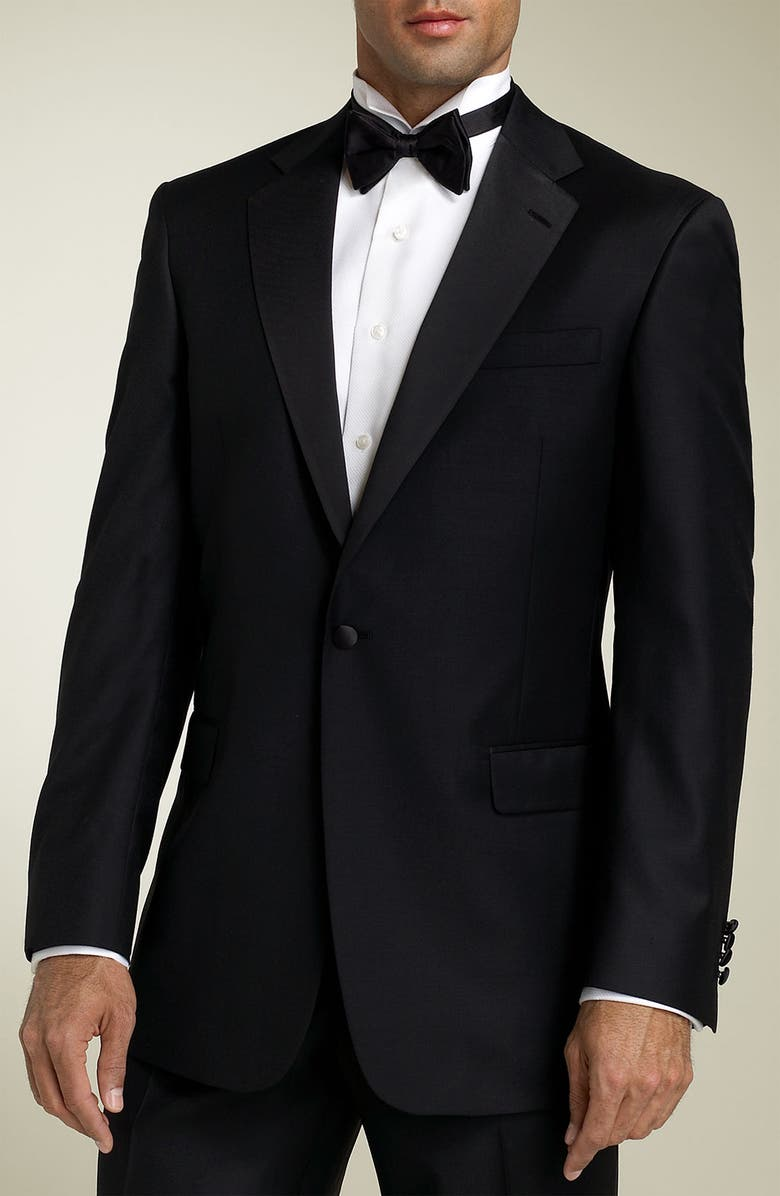 HART SCHAFFNER MARX 'Gold Trumpeter - Capital Collection' Wool Tuxedo, Main, color, 001