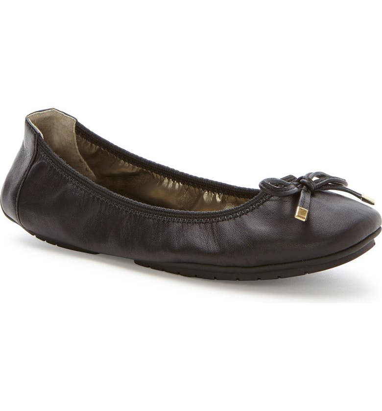 ME TOO 'Halle 2.0' Ballet Flat, Main, color, BLACK NAPPA LEATHER