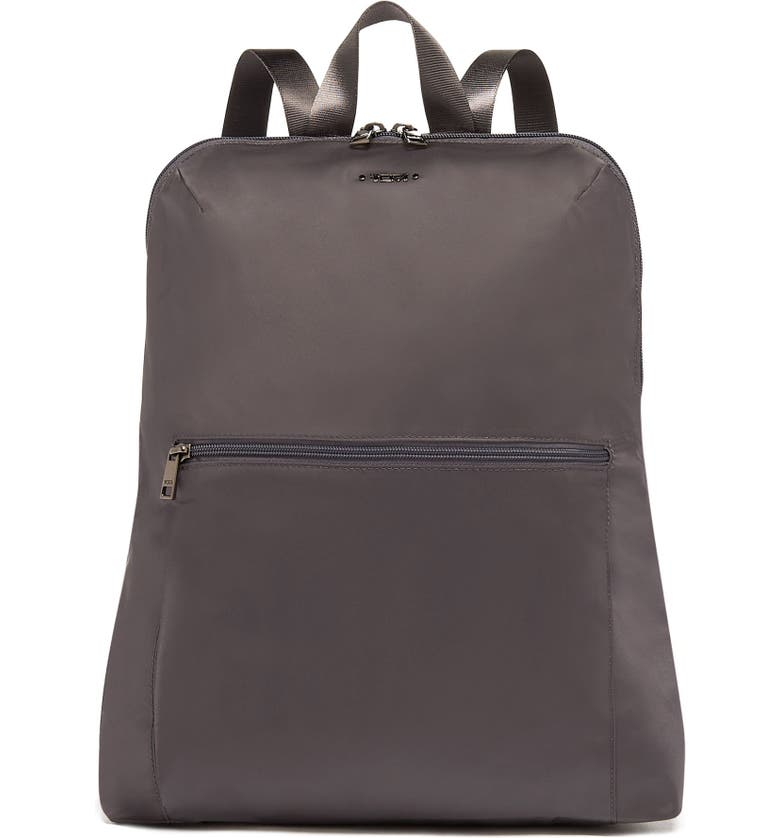 TUMI Voyageur - Just in Case Nylon Travel Backpack, Main, color, IRON/ BLACK