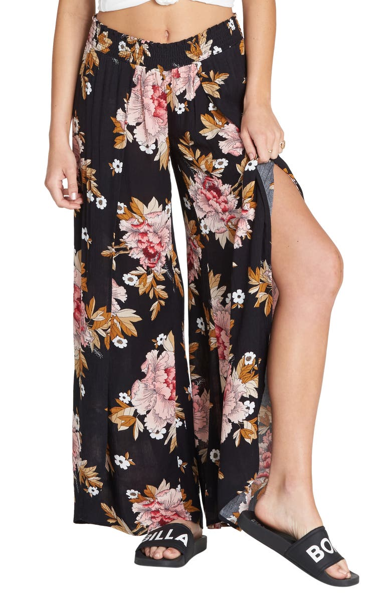 BILLABONG Wandering Soul Wide Leg Pants, Main, color, 001