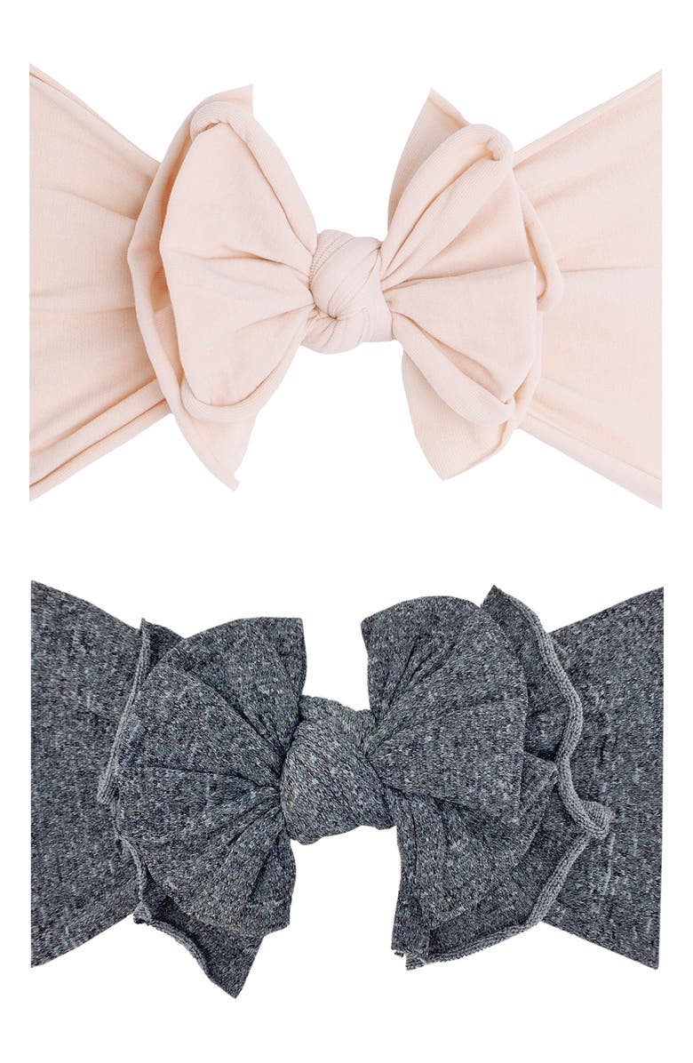 BABY BLING 2-Pack Fab-Bow-Lous Headbands, Main, color, 020