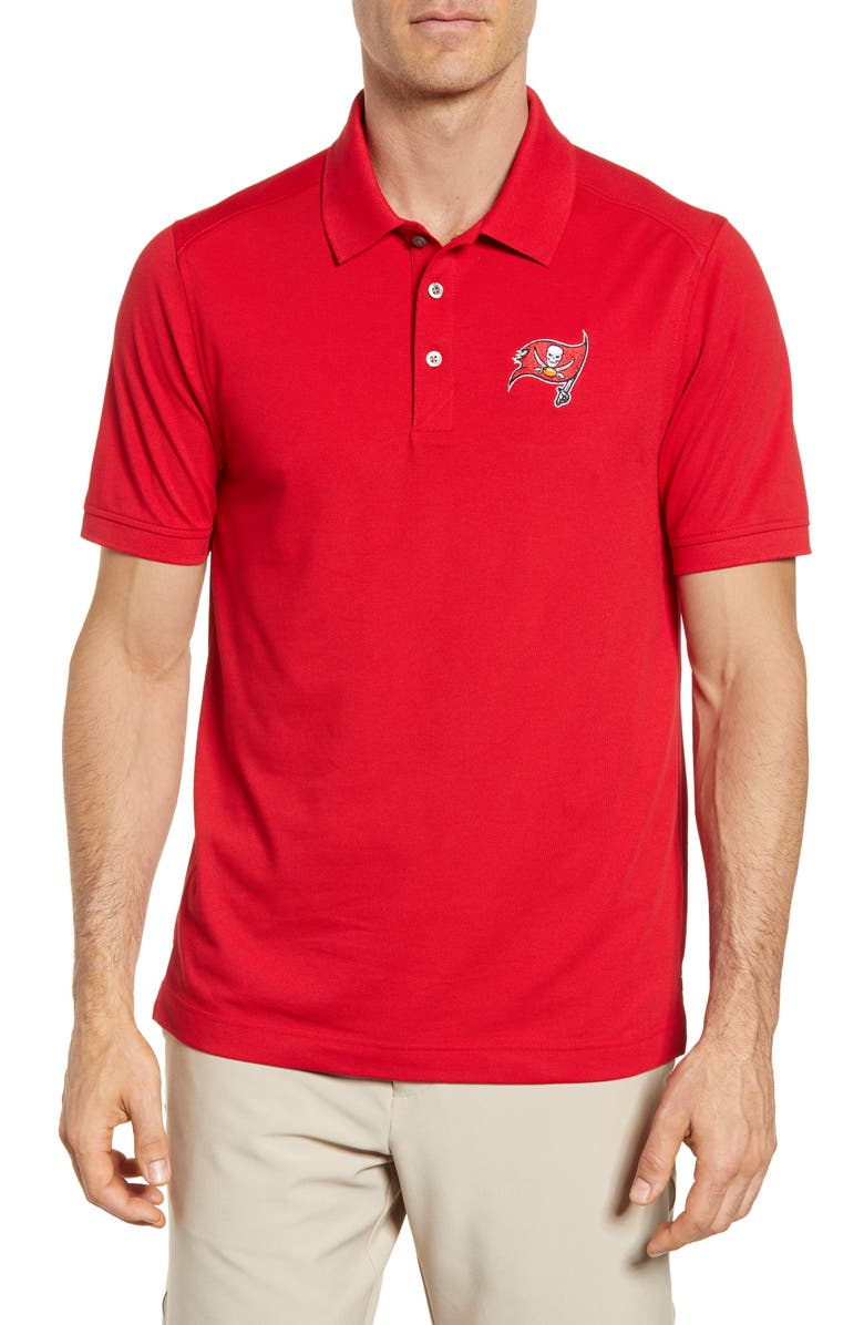CUTTER & BUCK Tampa Bay Buccaneers - Advantage Regular Fit DryTec Polo, Main, color, RED