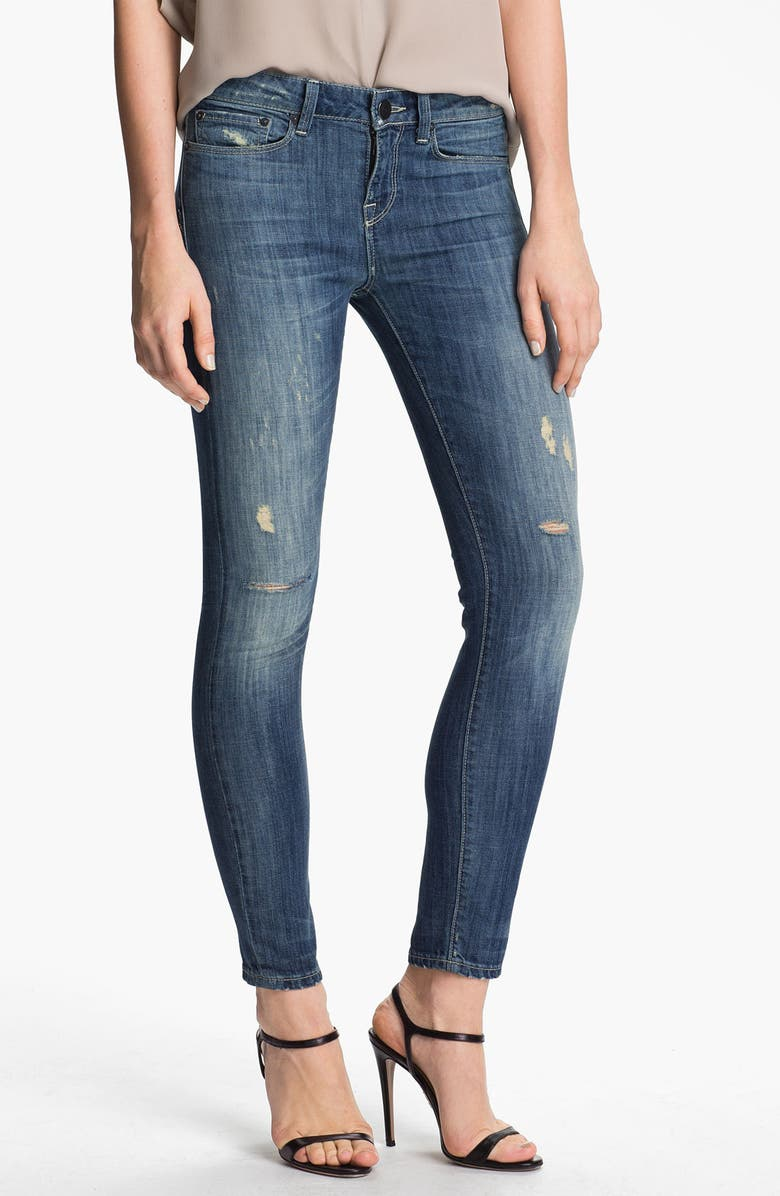VINCE Skinny Stretch Ankle Jeans, Main, color, LIGHT STONE