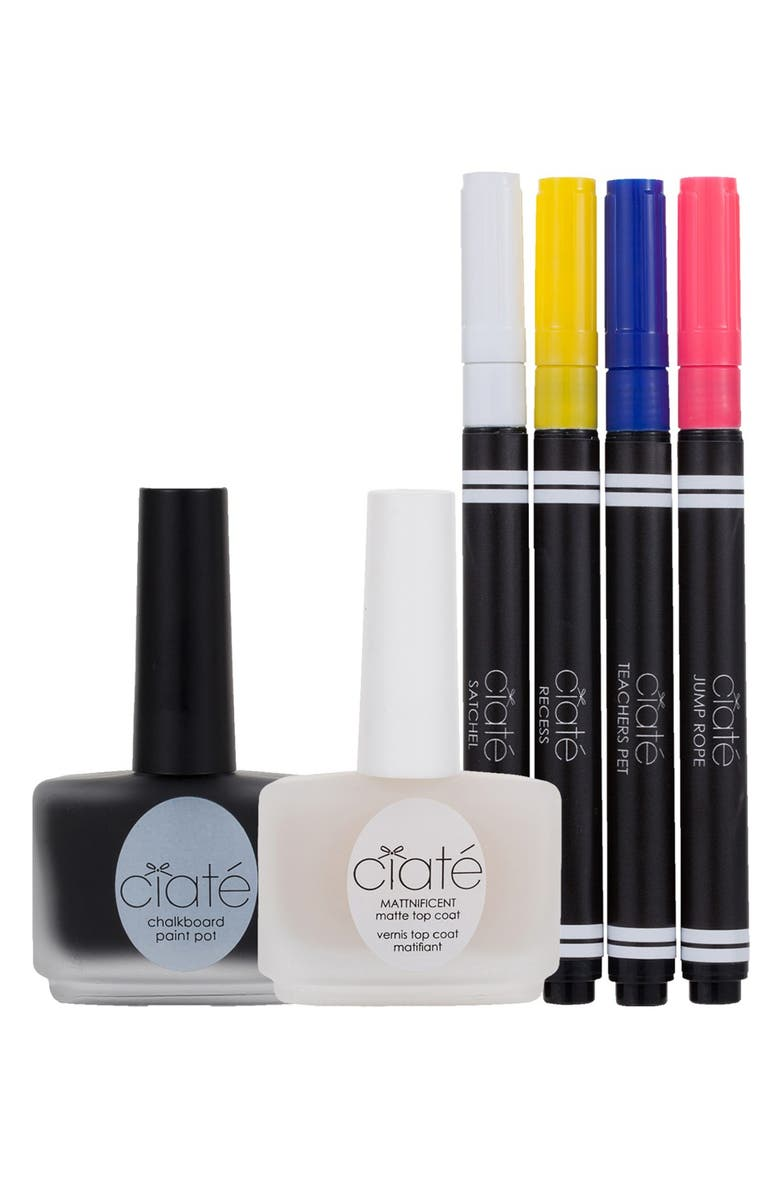 CIATÉ 'Chalkboard' Manicure Set, Main, color, 650