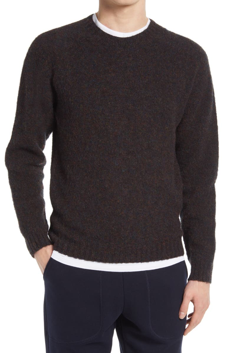 NORSE PROJECTS Birnir Crewneck Brushed Lambswool Sweater, Main, color, 001