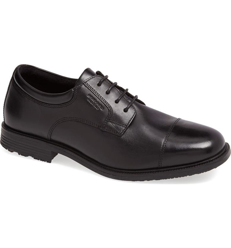ROCKPORT 'Essential Details' Waterproof Cap Toe Derby, Main, color, Black