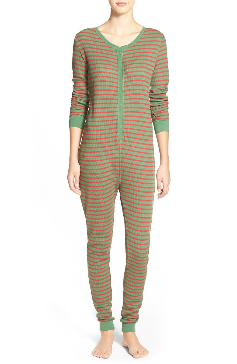 BP. UNDERCOVER Holiday Thermal One-Piece Pajamas, Main, color, 310