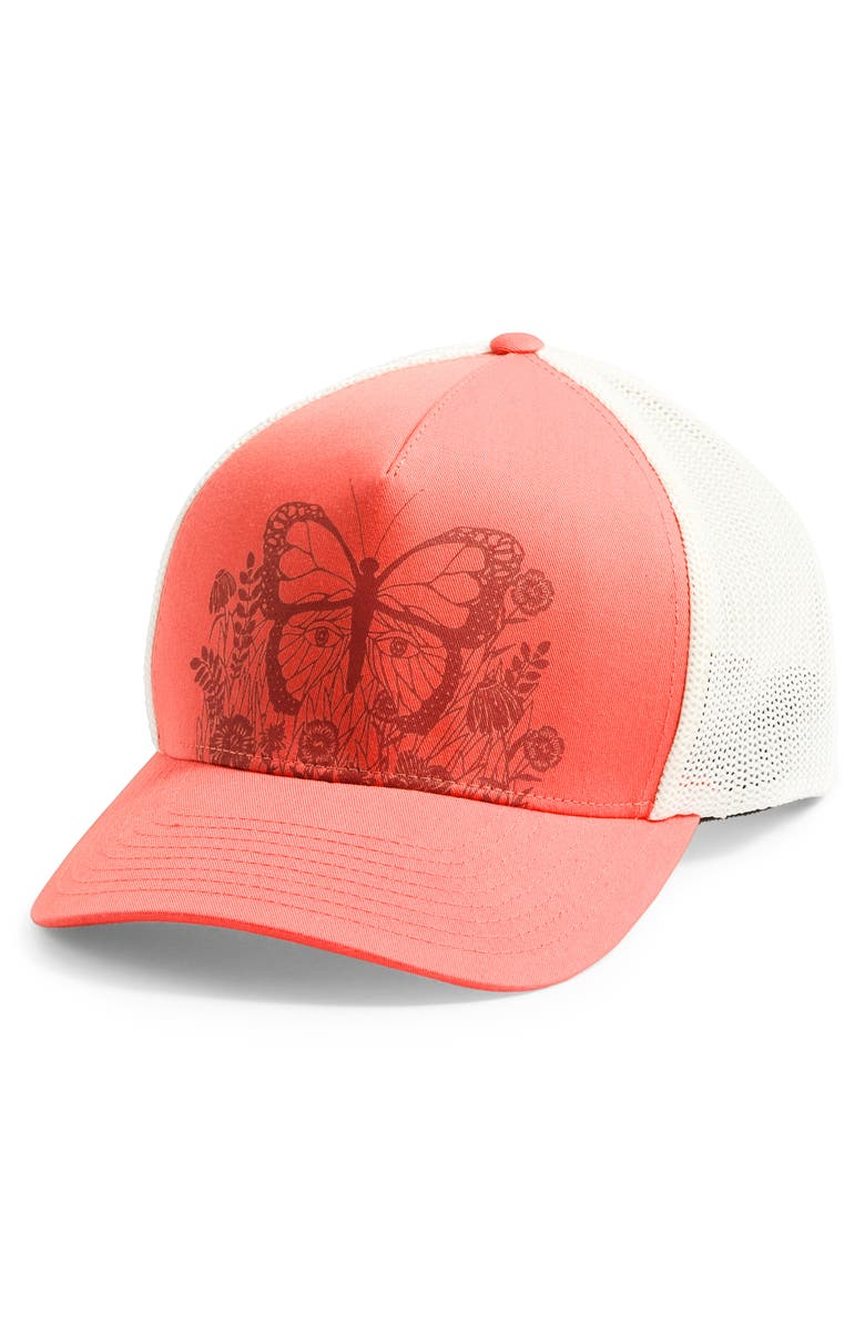 THE NORTH FACE Keep It Structured Trucker Hat, Main, color, MIAMI ORANGE/ KETCHUP RED