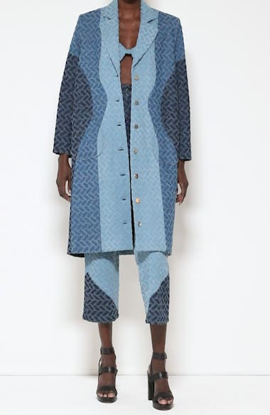 Geo Pattern Denim Coat, video thumbnail