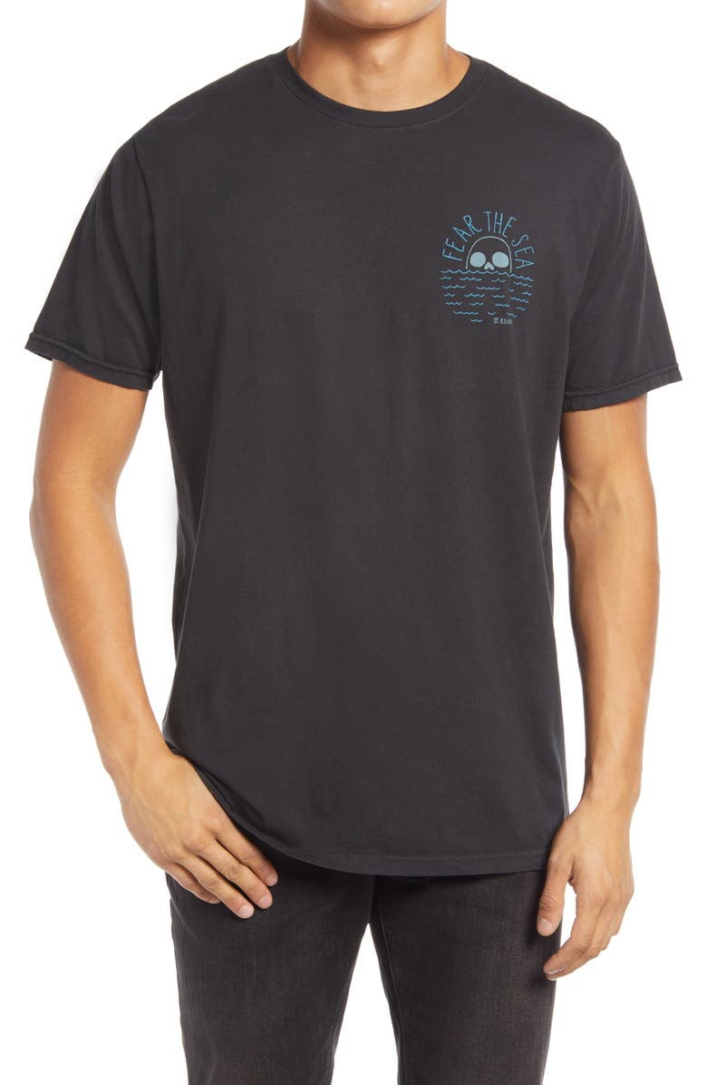 ROARK Fear the Sea Graphic Tee, Main, color, BLACK