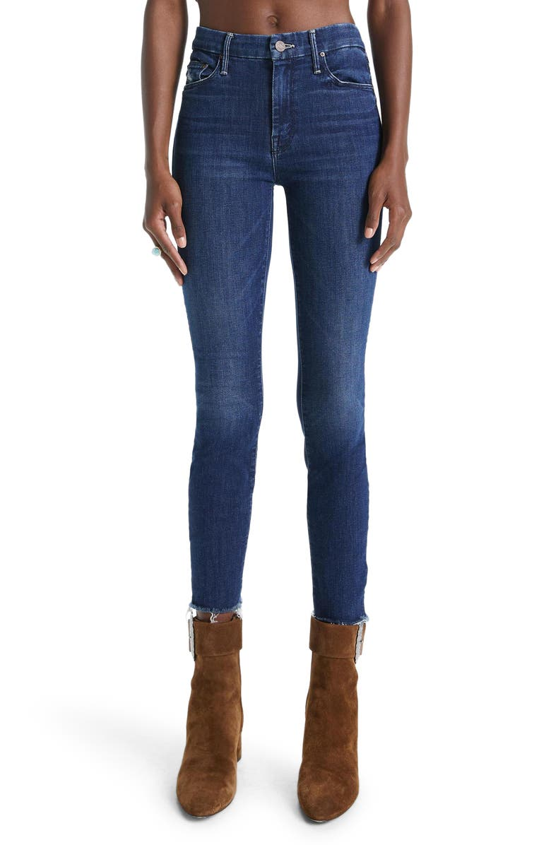 MOTHER 'The Looker' Frayed Ankle Jeans, Main, color, INVITATION ONLY