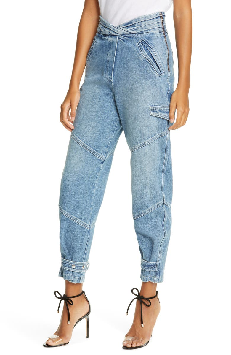 RTA Dallas Baggy Belted Cargo Jeans, Main, color, 400