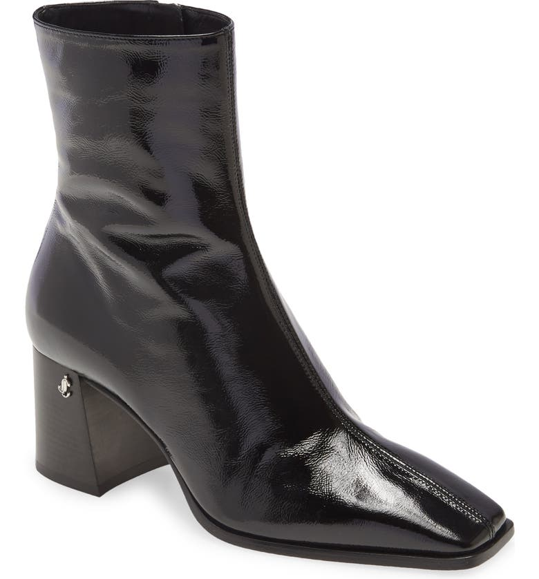 JIMMY CHOO Bryelle Square Toe Bootie, Main, color, Black