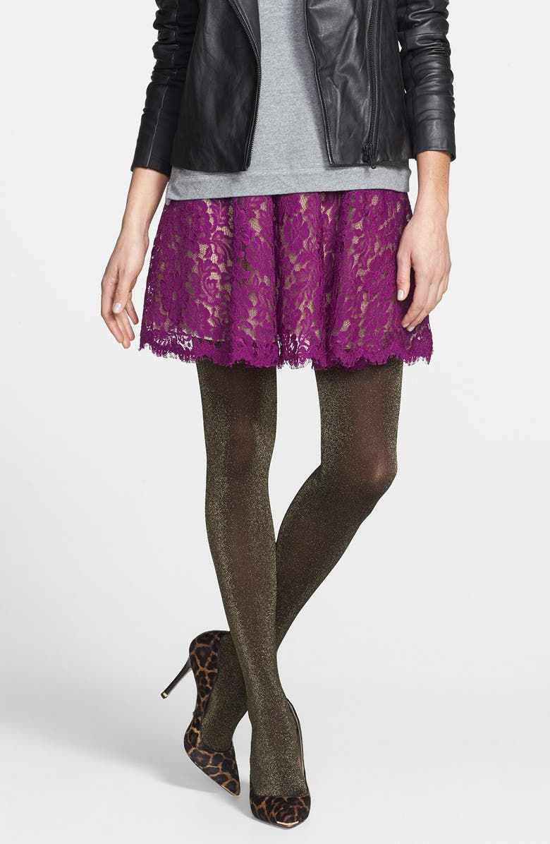 NORDSTROM 'Bewitched Sparkle' Tights, Main, color, BLACK/GOLD