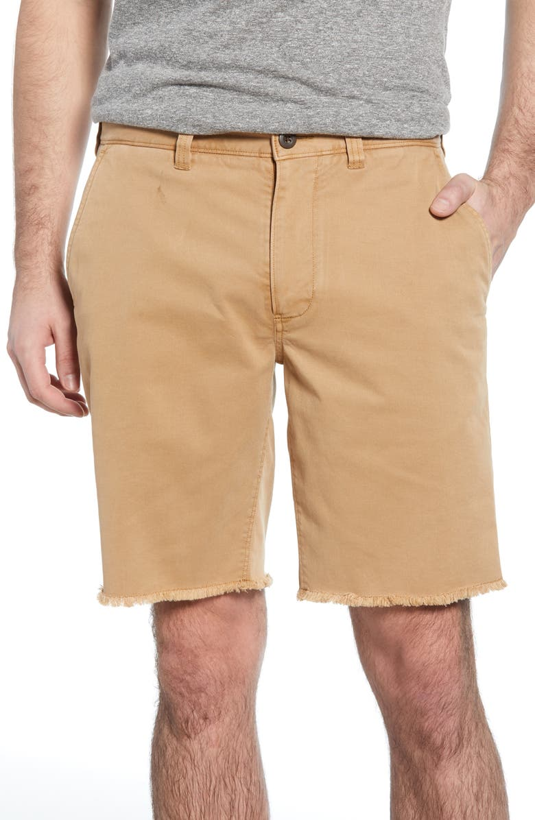 MADEWELL Raw Hem Chino Shorts, Main, color, 200