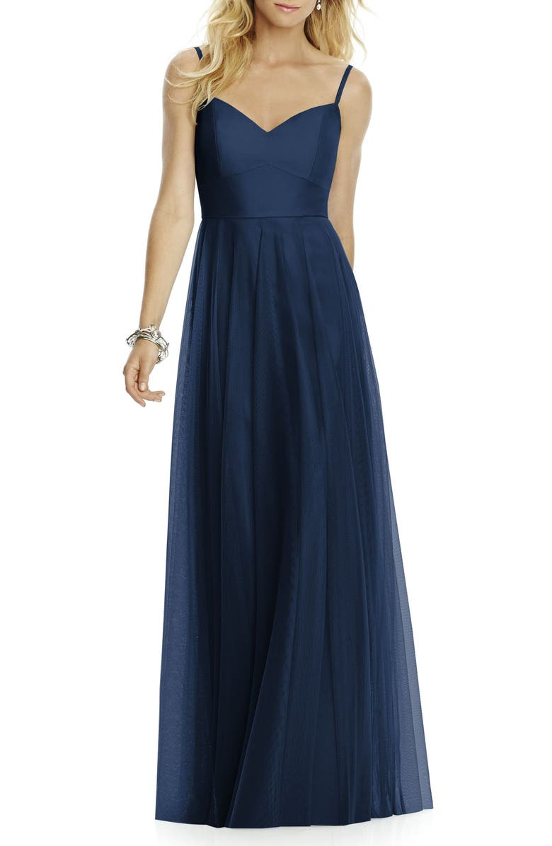 AFTER SIX Sweetheart Neck Tulle A-Line Gown, Main, color, 405