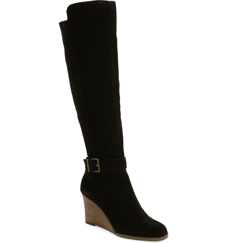 SOLE SOCIETY Paloma Knee High Boot, Main, color, 001