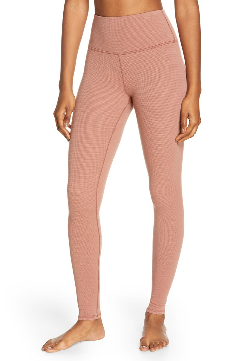 ALO High Waist Pure Thermal Leggings, Main, color, CHESTNUT