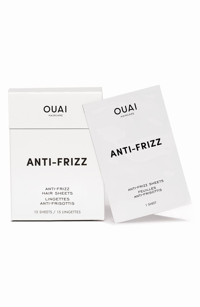 OUAI Anti-Frizz Smoothing Sheets, Main, color, 000
