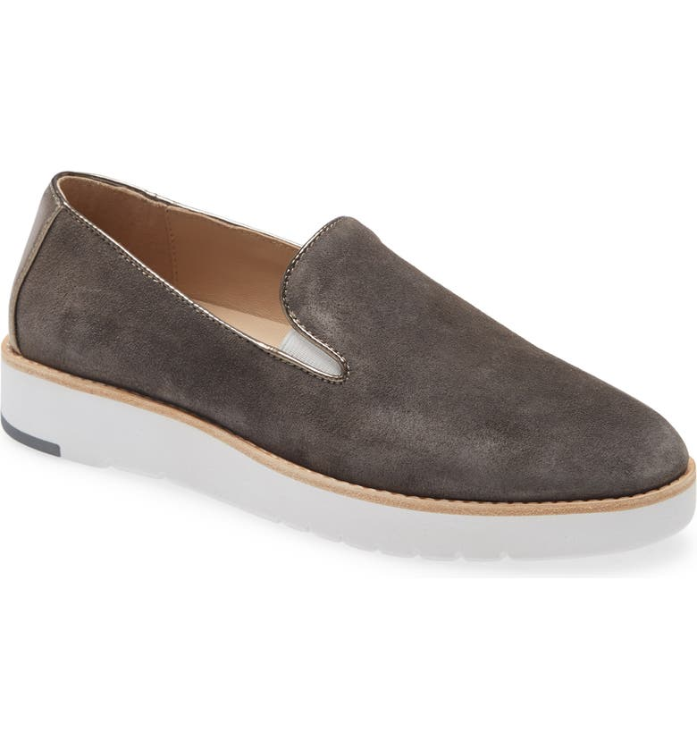 JOHNSTON & MURPHY Penelope Loafer, Main, color, GRAY SUEDE