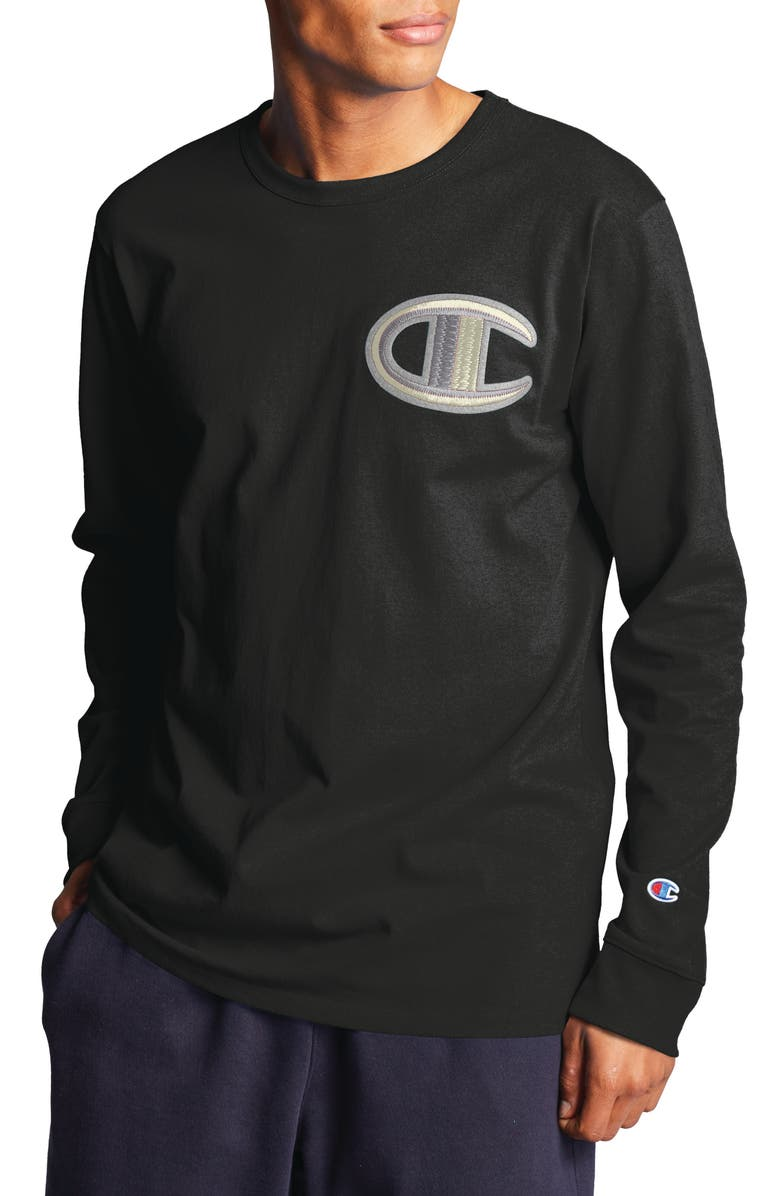 CHAMPION Heritage Long Sleeve Logo T-Shirt, Main, color, 001