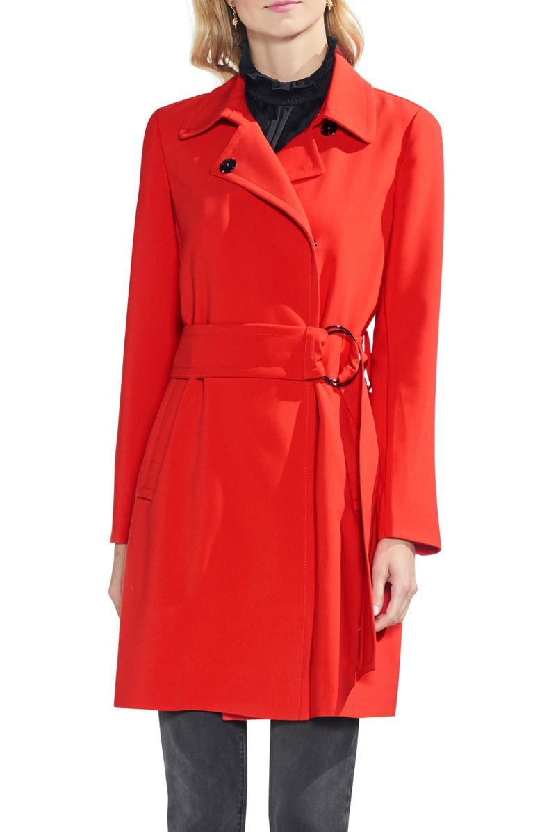 VINCE CAMUTO O-Ring Belt Trench Coat, Main, color, 629