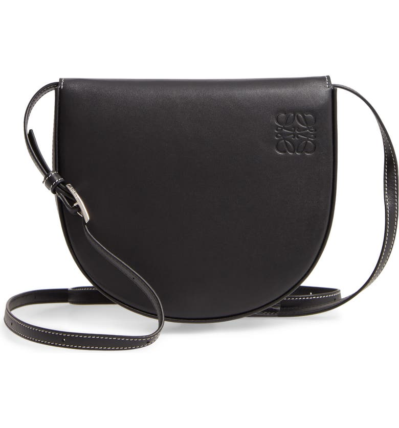 LOEWE Mini Heel Leather Bag, Main, color, BLACK