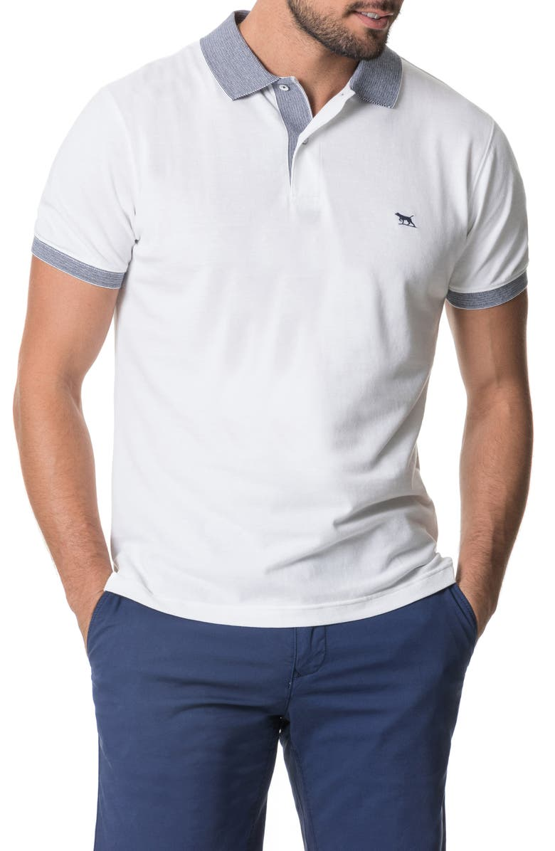 RODD & GUNN New Haven Sports Fit Piqué Polo, Main, color, SNOW
