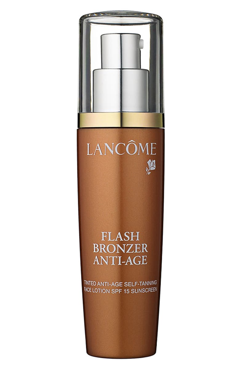 LANCÔME 'Flash Bronzer' Tinted Anti-Age Self-Tanning Face Lotion SPF 15, Main, color, 000