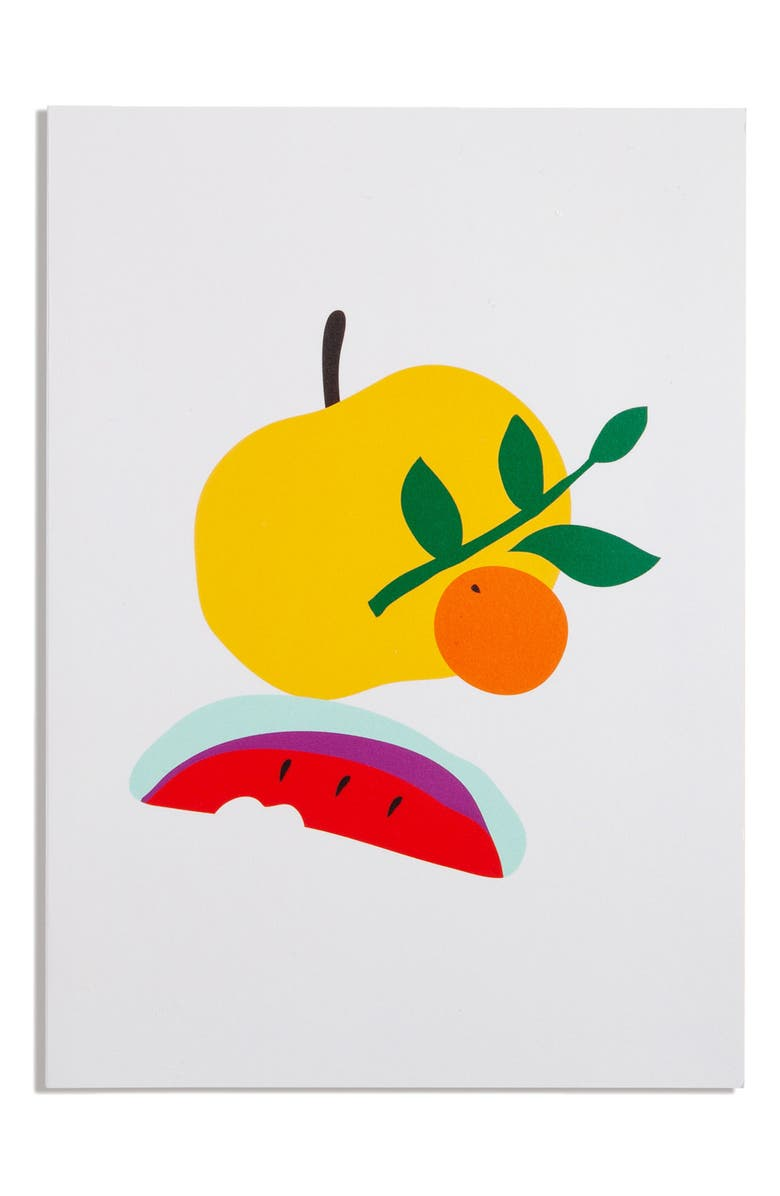 POKETO Simple Lined Notebook, Main, color, TANGERINE GRAY BACKGROUND